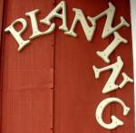 Planning Sign on old office [Click here to view full size picture]